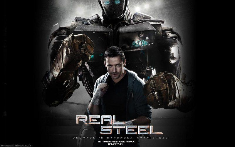 wallpaper Real Steel robots Hugh Jackman