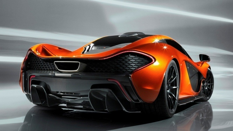 wallpaper McLaren P1 orange et noir