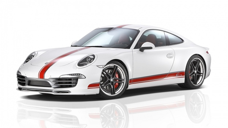 wallpaper Porsche 911 blanche et rouge