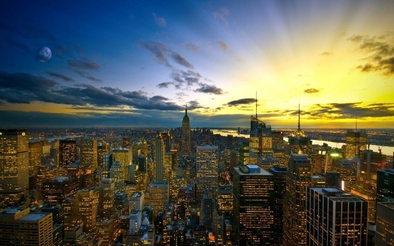 New York in the evening