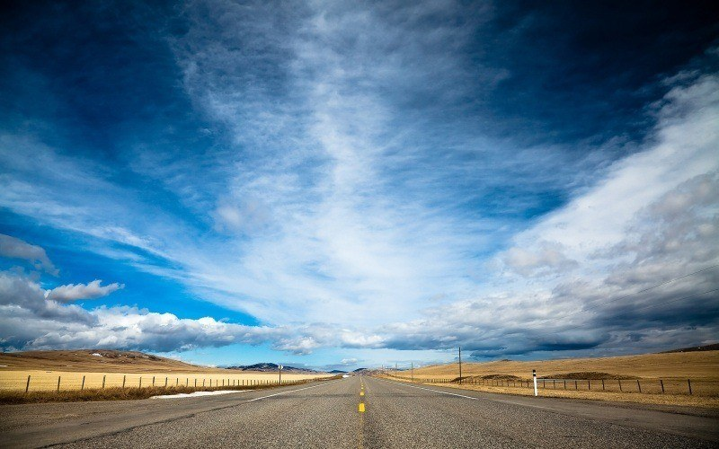 route droite horizon usa wallpaper photo
