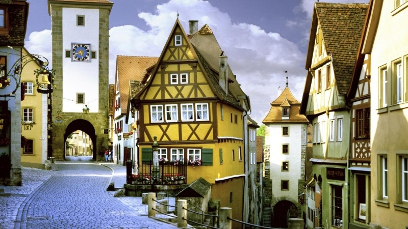 village Allemagne Rothenburg photo