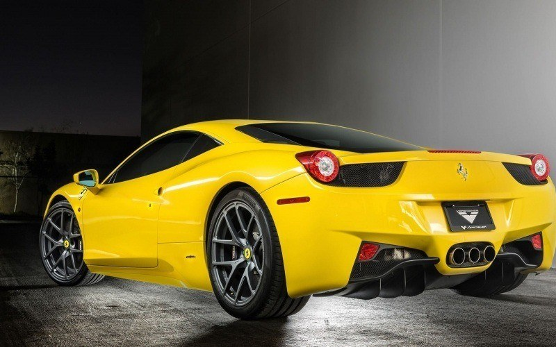Ferrari 458 jaune par Vorsteiner photo