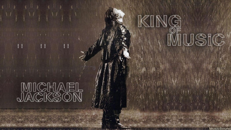 fond d'écran Mickael Jackson King Of Music wallpaper télécharger gratuit