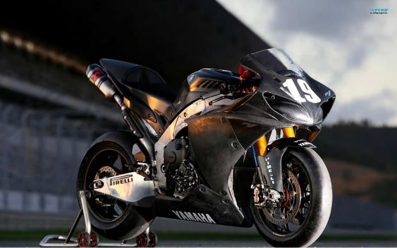 Moto Yamaha YZF photo wallpaper