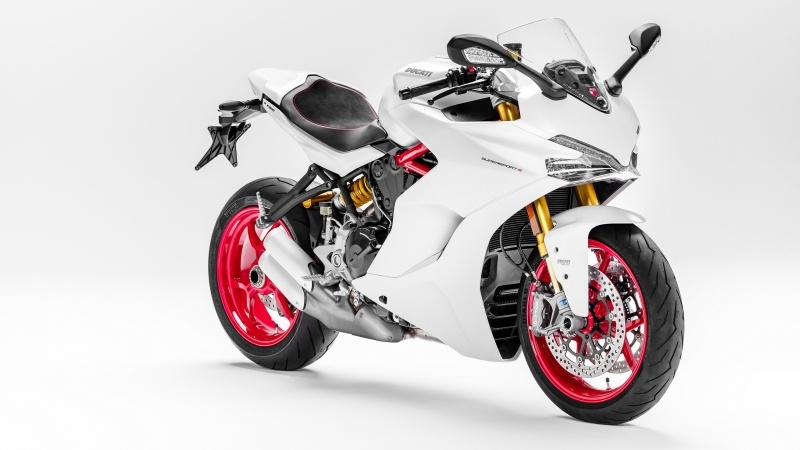 Fond ecran HD moto Ducati SuperSport blanche motorbike photo image picture wallpaper gratuit