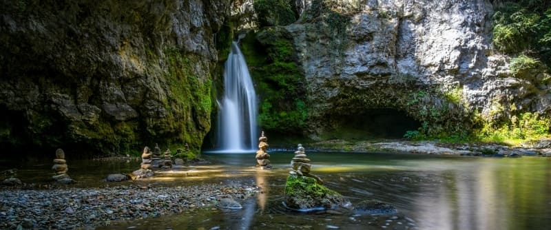 Photo panoramique HD cascade paysage nature