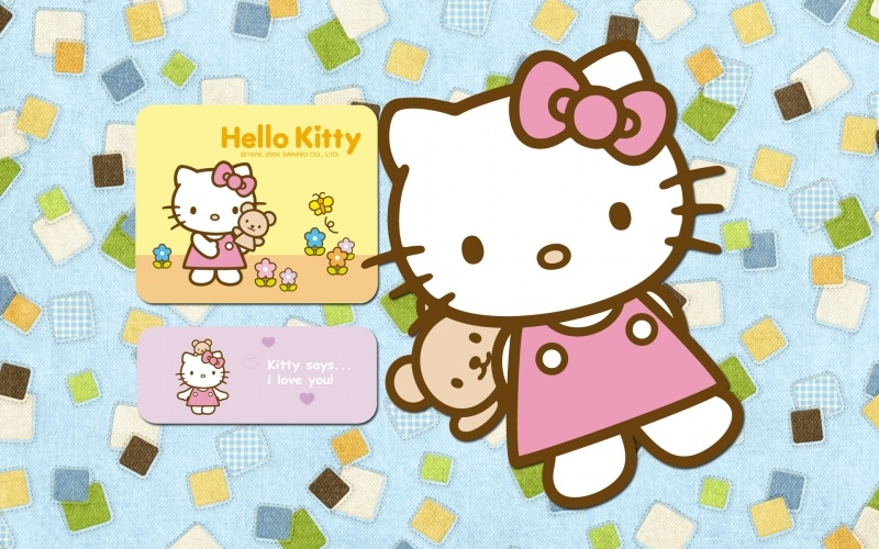 wallpaper Hello Kitty  says I love you