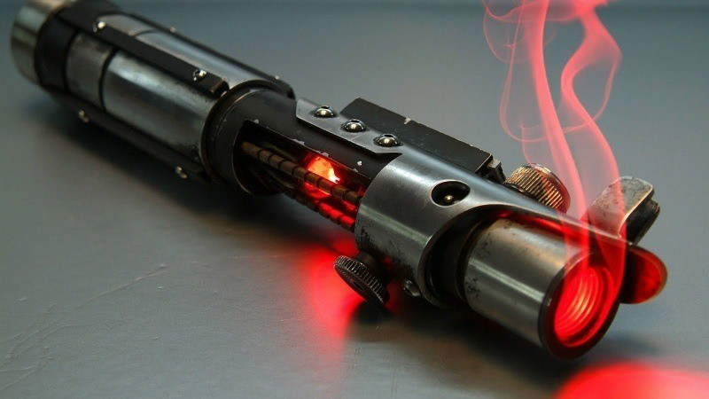 star wars sable laser rouge fond écran